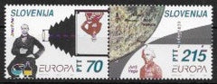 #195a Slovenia - 1994 Europa: Great Discoveries, Pair (MNH)