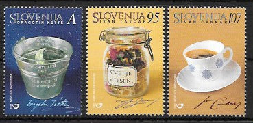 #445-447 Slovenia - Writers, Set of 3 (MNH)