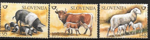 #533-535 Slovenia - Farm Animals, set of 3 (MNH)