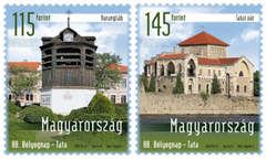 #4356-4357 Hungary - 88th Stamp Day, Buildings in Tata, Set of 2 (MNH)