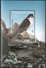 #165 Tajikistan - Birds of Prey S/S (MNH)
