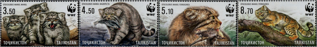 #473-476 Tajikistan - Worldwide Fund for Nature (WWF), Set of 4 (MNH)