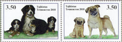 #489 Tajikistan - New Year 2018: Year of the Dog, Pair (MNH)