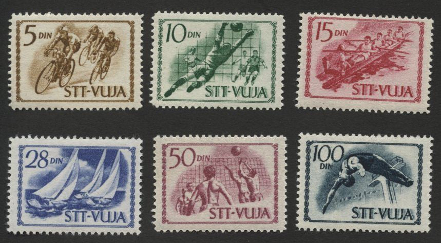 #42-47 Trieste (Zone B) - Sports (MNH)