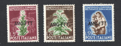 "#85-87 Trieste (Zone A) - Italy Nos. 544-546, Ovptd. Type ""h"" (MNH)"