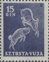 #29 Trieste (Zone B) - Goats, Single Stamp (MNH)