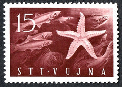 #65 Trieste (Zone B) - Anchovies and Starfish (MNH)