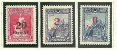 #673-675 Turkey - No. 636, 652, 654 Surcharged in Red or Black (MNH)