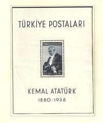 #841 Turkey - Death of Kemal Atatürk, 1st Anniv. S/S (MNH)