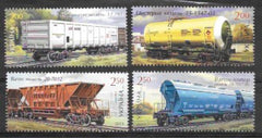#915-918 Ukraine - Rail Cars and Rail Tankers (MNH)