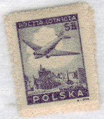#C13-C18 Poland - Douglas Plane over Ruins of Warsaw, Air-mail (MNH)
