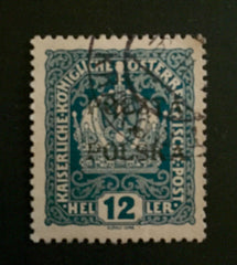 #45 Poland - Austrian Stamps of 1916-1918, Overprinted (Used)