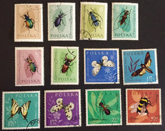 #1029-1040 Poland - Insects in Natural Colors (Used)