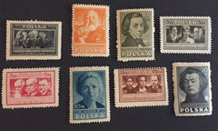#405-412 Poland - Types of Artists, perf. (MNH)