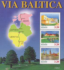 #289 Estonia - Via Baltica S/S (MNH)