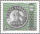#345 Estonia - One Kroon Coin Type of 1997 (MNH)