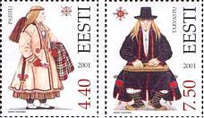 #427-428 Estonia - Folk Costumes (MNH)