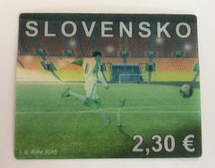 #596a Slovakia - 2010 World Cup Soccer Championships, Three-Dimensional (MNH)