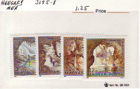#3195-3198 Hungary - Caves, Set of 4 (MNH)