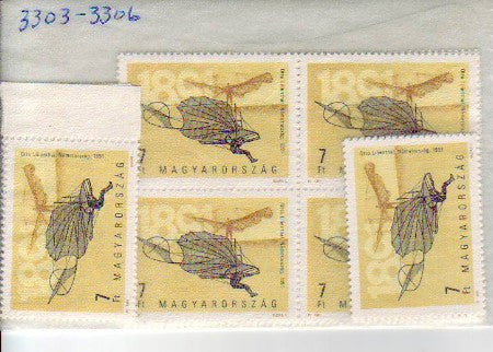 #3303-3306 Hungary - Otto Lilienthal's First Flight (MNH)