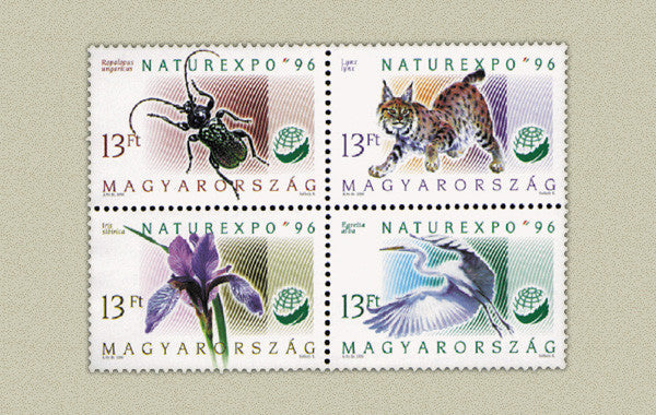 #3541a Hungary - Nature Expo '96, Block of 4 (MNH)