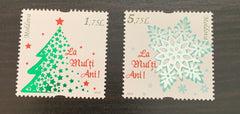 #1006-1007 Moldova - 2018 Happy New Year, Set of 2 (MNH)
