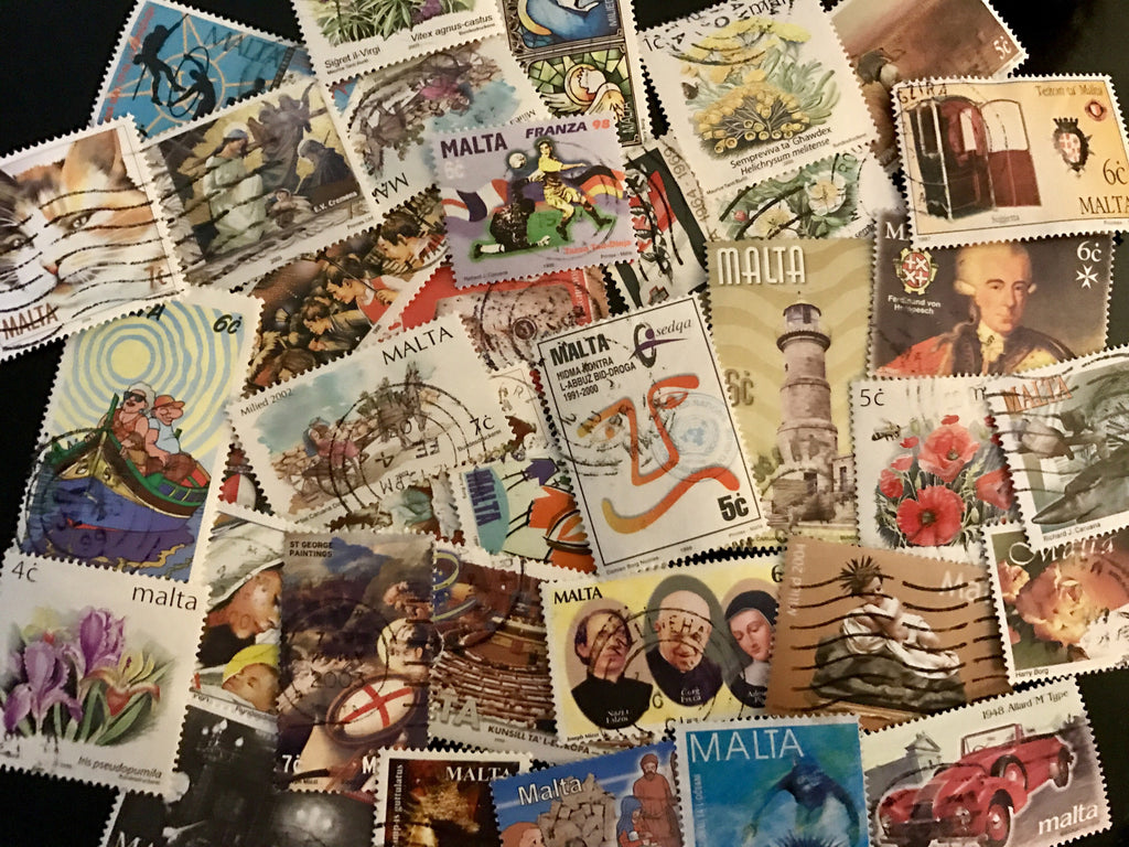 Malta Stamp Packet (50 Different Stamps) (Used)