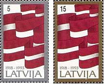 #353-354 Latvia - Independence (MNH)