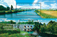 #870 Croatia - Bridges S/S (MNH)