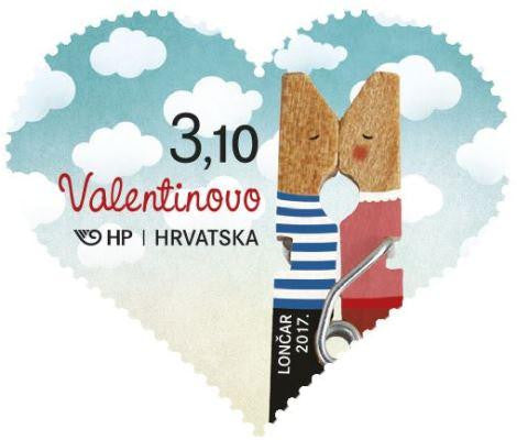 #1021 Croatia - St. Valentine's Day, Single (MNH)