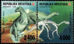 #185 Croatia - Dinosaurs from Western Istria, Pair (MNH)