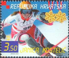#518 Croatia - Alpine Skiing World Cup Victories of Janica and Ivica Kostelić, pair (MNH)