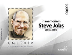 Hungary - 2012 Steve Jobs Commemorative Sheet (MNH)