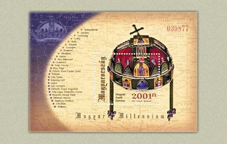 #3772 Hungary - Crown of St. Stephen S/S (MNH)