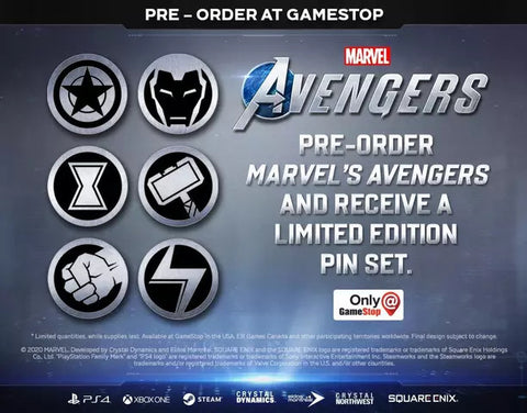 Avenger's Pin Set