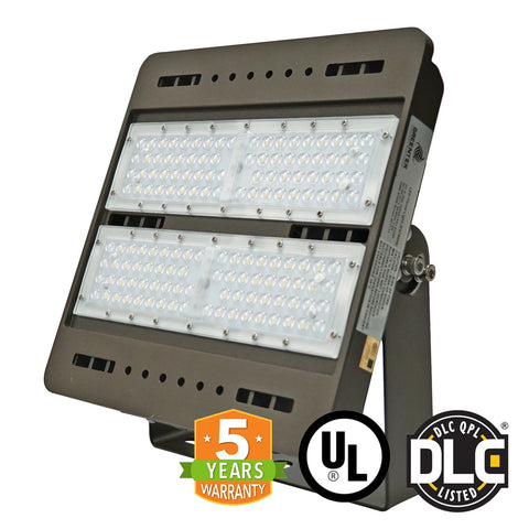 LED Flood Light - 100W - S Series - (UL+DLC) - 5 Year Warranty - Flood Mount - Brown