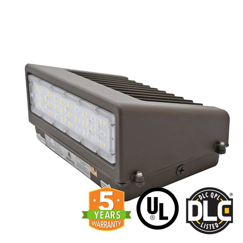 40W LED Wall Pack Light - Full Cutoff - Dark Sky - DLC Listed - Green Light Depot