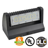 LED Rotatable Wall Pack - 40W - 5000K - (UL+DLC) - Green Light Depot