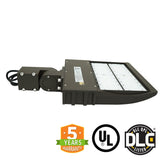 LED Street Light - 90W - Outdoor LED Luminaire Slip Fitter Mount - DLC Listed - 5 Year Warranty