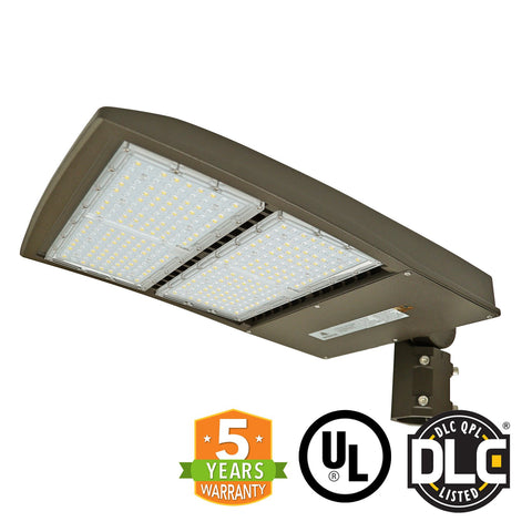 LED Street Light - 300W - Outdoor LED Slip Fitter Mount - 5 Year Warranty - With Shorting Cap - Green Light Depot