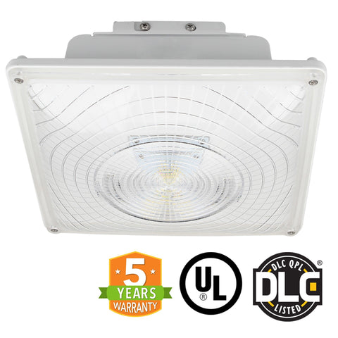 LED Canopy Light - 55W Outdoor Parking Garage Light - (UL+DLC Listed)