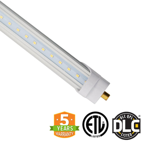 8ft 40W LED Linear Tube - Fa8 Socket - Bypass - (DLC) - Green Light Depot