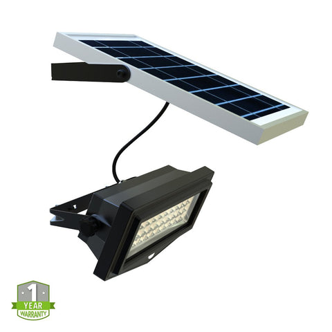 Solar LED Flood Light - 1000 Lumens - Solar PIR Security Light - 6000K - Green Light Depot