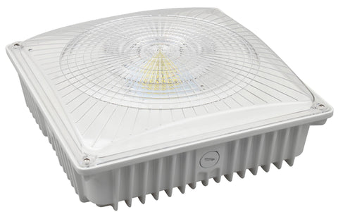 LED Canopy Light - 75W Outdoor Parking Garage Light - (UL+DLC Listed) - Green Light Depot
