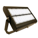 LED Flood Light - 150W - Outdoor LED Luminaire Yoke Mount - DLC Listed - 5 Year Warranty - 6000K - Bronze Finish - Green Light Depot