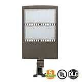 LED Flood Light - 300W - Outdoor LED Luminaire Yoke Mount - DLC Listed - 5 Year Warranty - 5700K - With Photocell Capability - Green Light Depot