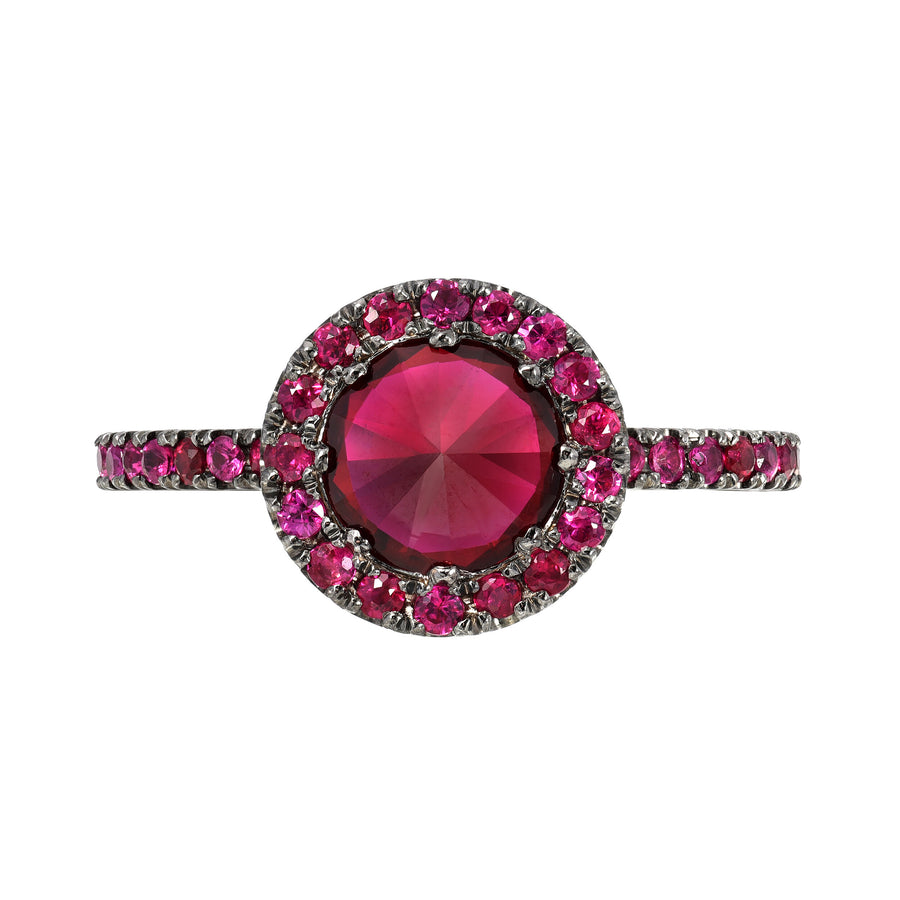 SUGAR STUD RUBY RING