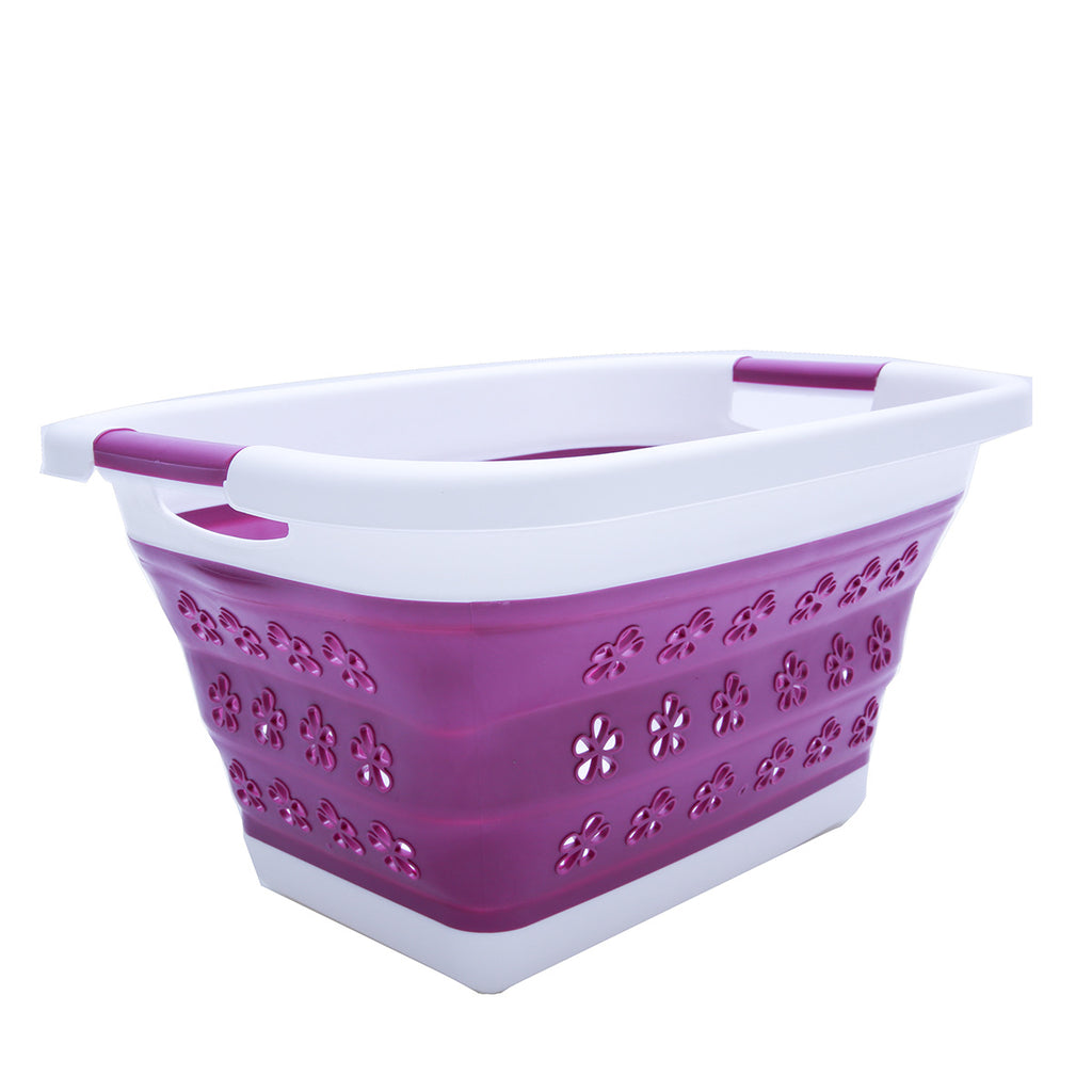 Collapsible Laundry Basket and Foldable Space Saving Fruits Bin