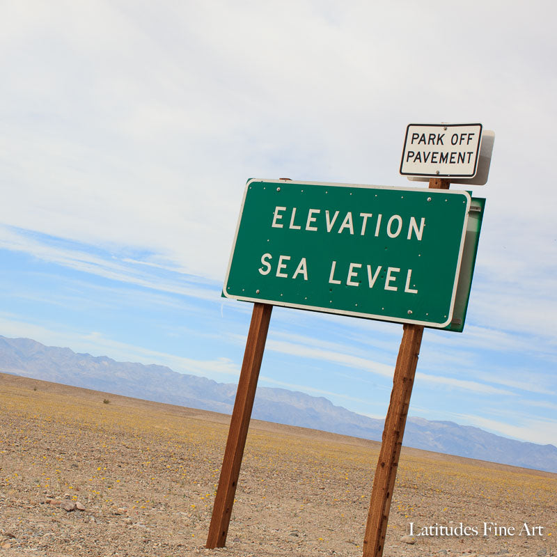 Sea Level Sign