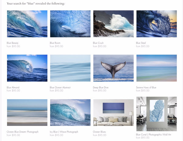Blue Photographs for your wall
